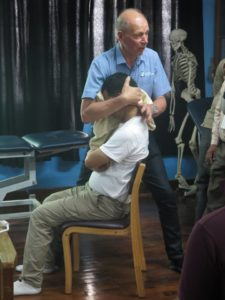 Tim demonstrating cervical NAGS